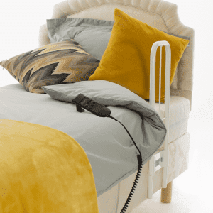 Clamprail grab rail bed lever fitted to adjustable bed